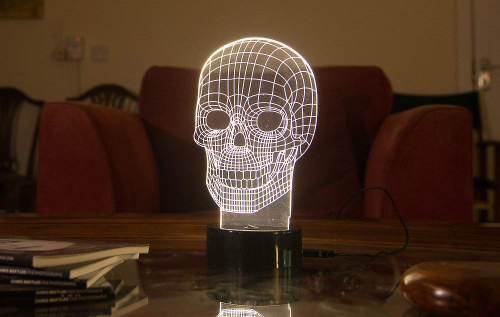 lampada teschio
